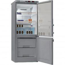 Фармацевтические холодильники Pozis ХЛ-250 серебристый тонир.стекло нержавейка (комбинированный лабораторный)